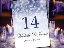 winter wonderland table numbers printable wedding table number template winter wonderland