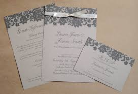 wedding invitation paper paper wedding invitation with black lace design