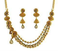 gold sets design 22k designer antique necklace set ajns59882 22k gold