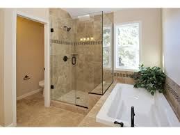 tub with glass door bathroom with large tub and stand up glass door shower natural