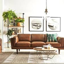 Ebay Brown Leather Sofa Ebay Vintage Brown Leather Sofa Bed Style Ribbed Large Antique