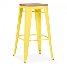 tolix bar stools for sale yellow with natural wood seat 75cm tolix style stool cult uk