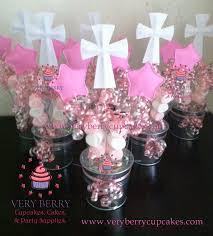 centerpieces for baptism veryberry cupcakes girl baptism foam centerpieces