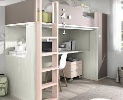 lit surélevé avec bureau mezzanine avec bureau lit mezzanine avec bureau et caisson a