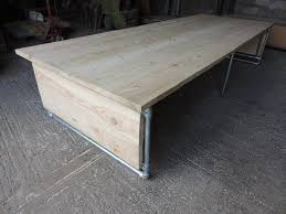 Large Office Desk Large Industrial Scaffold Board Office Desk Dining Table With