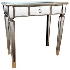 Mirrored Entry Table Bedroom Furniture Sets Antique Mirror Console Table Mirrored