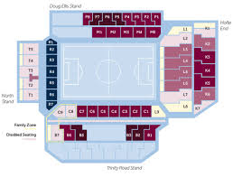 layout of villa park seating
