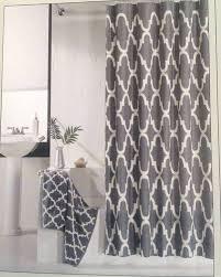 Gray And White Curtains Arabesque Bathroom Fabric Inspiration By Ne Mo Eu Home Fabrics