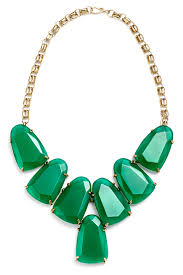 necklace with green stone images Green stone bib necklace by kendra scott for 30 rent the runway jpg