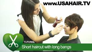 short haircut with long bangs parikmaxer tv usa youtube