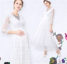 aliexpress com buy maternity dress for baby shower lace