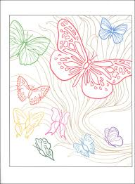 beautiful butterflies designs with a splash of color creative