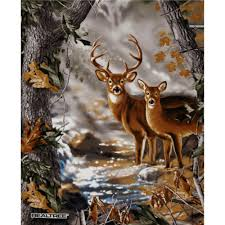 Whitetail Deer Home Decor by Realtree Buck U0026 Doe Panel Multi Fabrics Craft And Fabric Panels