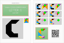 tangram letter c printable tangram worksheet 111 providing