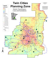 Twin Cities Map Minnesota Electric Transmission Planning
