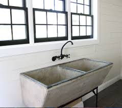 Sinks For Laundry Room by Our New Laundry Room Faucet For Our Vintage Concrete Sink