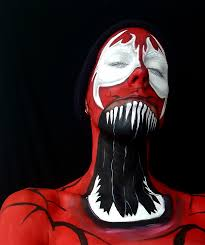 Carnage Halloween Costume Carnage Face Paint