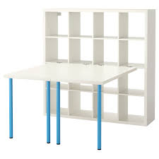 kallax workstation white blue ikea