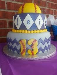 softball u0026 chevron stacked cake cakes cupcakes u0026 sweets