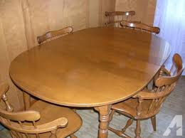 solid maple dining table ethan allen solid maple dining room table and six chairs for sale in
