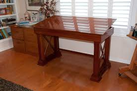Custom Drafting Tables Sapele Drafting Table By Zzzzdoc Lumberjocks Woodworking