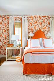 orange bedroom decorating ideas home interior design simple