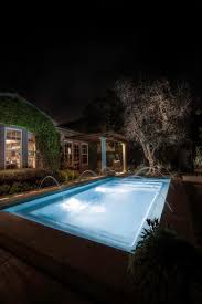 landscape lighting adds a dramatic look to the olive tree and