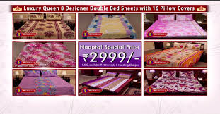 luxury queen 8 designer double bed sheets with 16 pillow covers