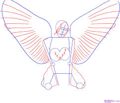 how to draw an angel step by step tattoos pop culture free