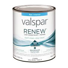 shop valspar renew flat latex interior paint and primer in one