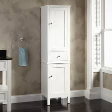 Kitchen Best  Tall Bathroom Cabinets Ideas On Pinterest For - Tall bathroom linen cabinet white
