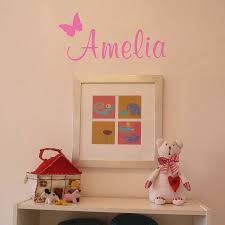 fascinating personalised pink butterfly wall sticker inspiration