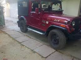 mahindra thar crde 4x4 ac modified my li u0027l red mahindra thar with some practical modifications page