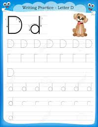 writing practice letter d printable worksheet for preschool