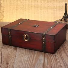 large vintage wooden storage present gift box wedding