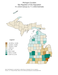 Michigan Counties Map Michigan Demographic And Economic Statistics U003c Span U003e