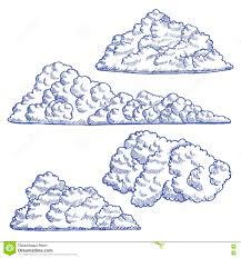 clouds hand draw sketch vector stock vector image 76548624