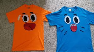 scary halloween shirts gumball and darwin homemade t shirts by gumball28 on deviantart