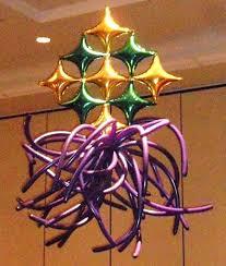 How To Make A Balloon Chandelier Mardi Gras Party Theme Mardi Gras Balloon Mardi Gras Balloon Cloumns