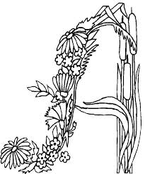 flower printable coloring sheets alphabet flower coloring