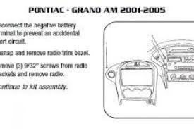 2000 pontiac sunfire car radio stereo audio wiring diagram