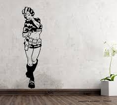 wandtattoo lady army woman fliegerin mit tarnanzug