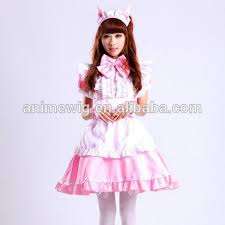 Quality Halloween Costume Quality Pink Skirt Dress Maid Costume