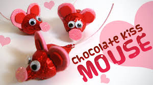 chocolate kiss mouse valentine u0027s day gift ideas for kids youtube