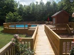 above ground pool with deck benefits cost and ideas