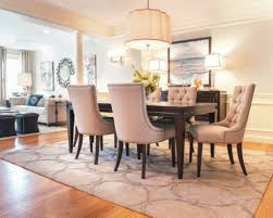modern round dining table dining room midcentury with area rug