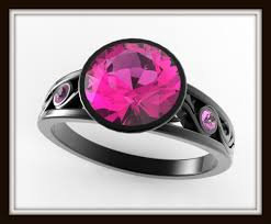 pink and black engagement rings black gold engagement ring with pink vidar jewelry