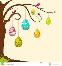 easter egg tree clipart