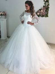 tulle wedding dresses buy gown the shoulder 3 4 sleeves tulle wedding dress