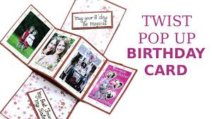 unique twist pop up card diy birthday greeting card making youtube